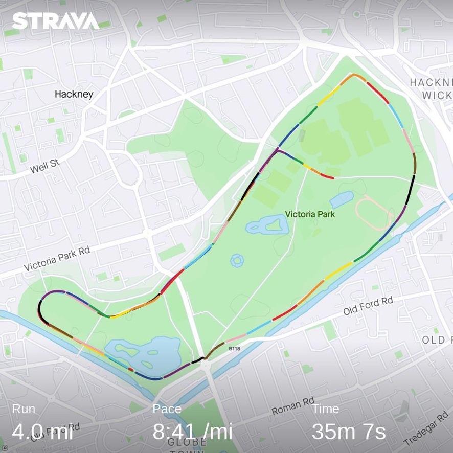 Run route on Strava
